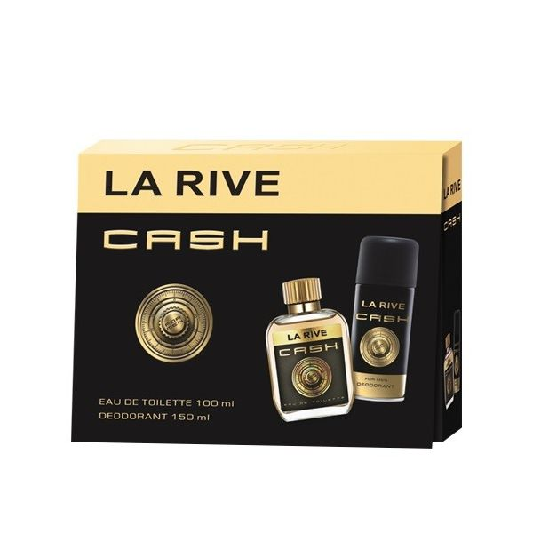 La rive cash for men zestaw woda toaletowa spray 100ml + dezodorant spray 150ml